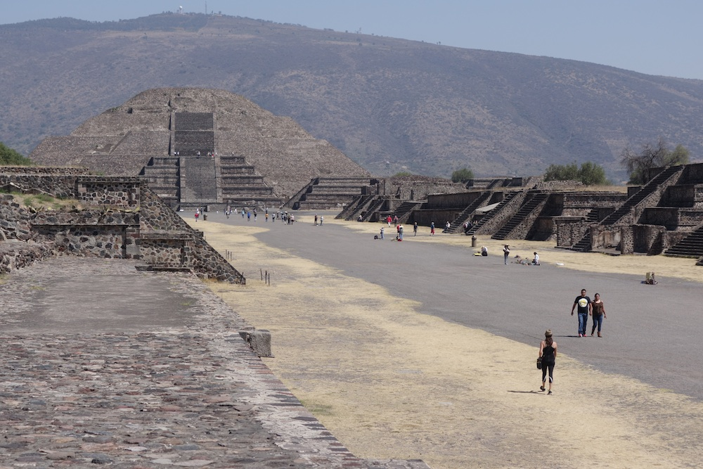 Teotihuacan Pyramid of the Moon and Avenue of the Dead