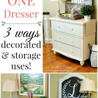 One Dresser Three Ways
