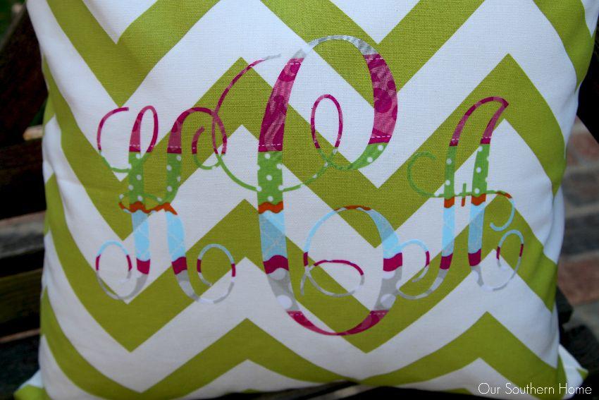 no sew monogram pillows