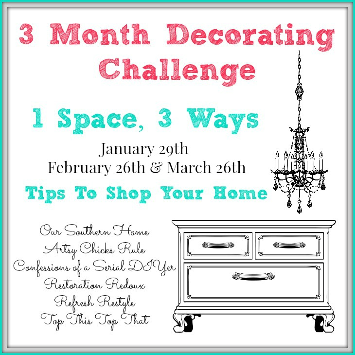 3 Month Decorating Challenge - One space, three ways brought to you by a group of top bloggers!