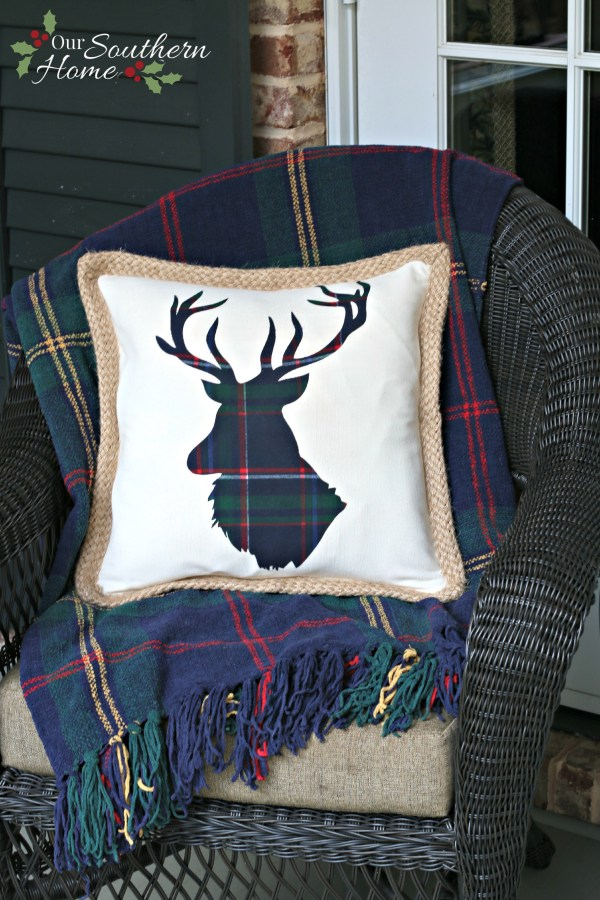 DIY Reindeer Pillow using a Silhouette Cameo by Our Southern Home