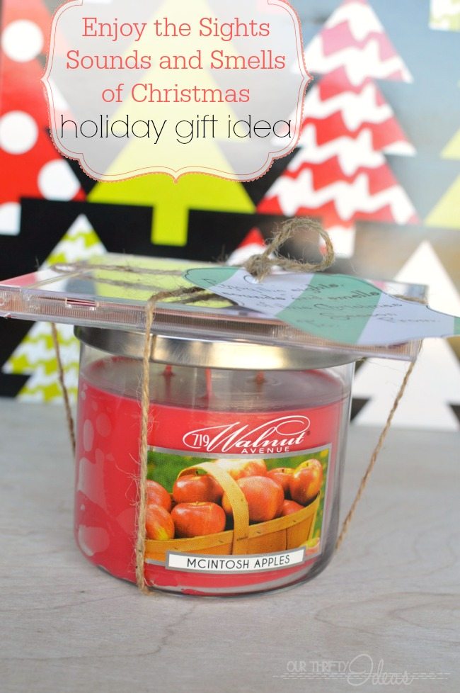 Christmas Candle Neighbor Gift - Our Thrifty Ideas
