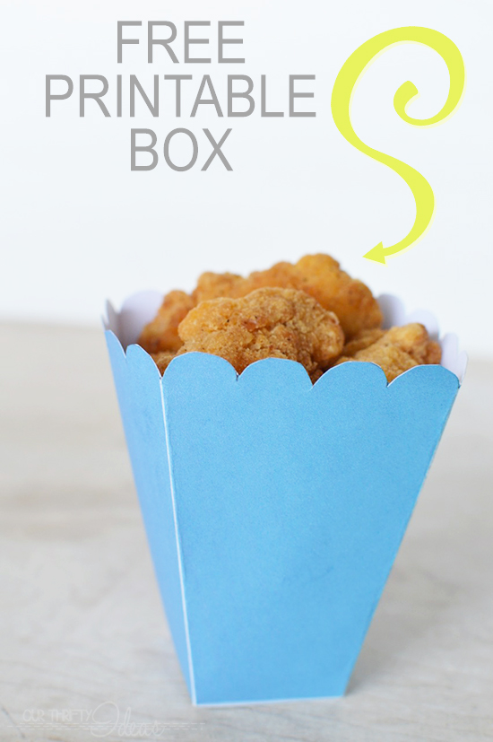 Free Popcorn Chicken Box Printable - Our Thrifty Ideas