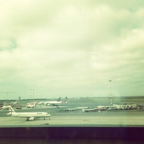 Alitalia planes at FCO