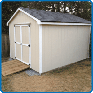 10' x 12' Simple Gable Shed - Westcoast Outbuildings