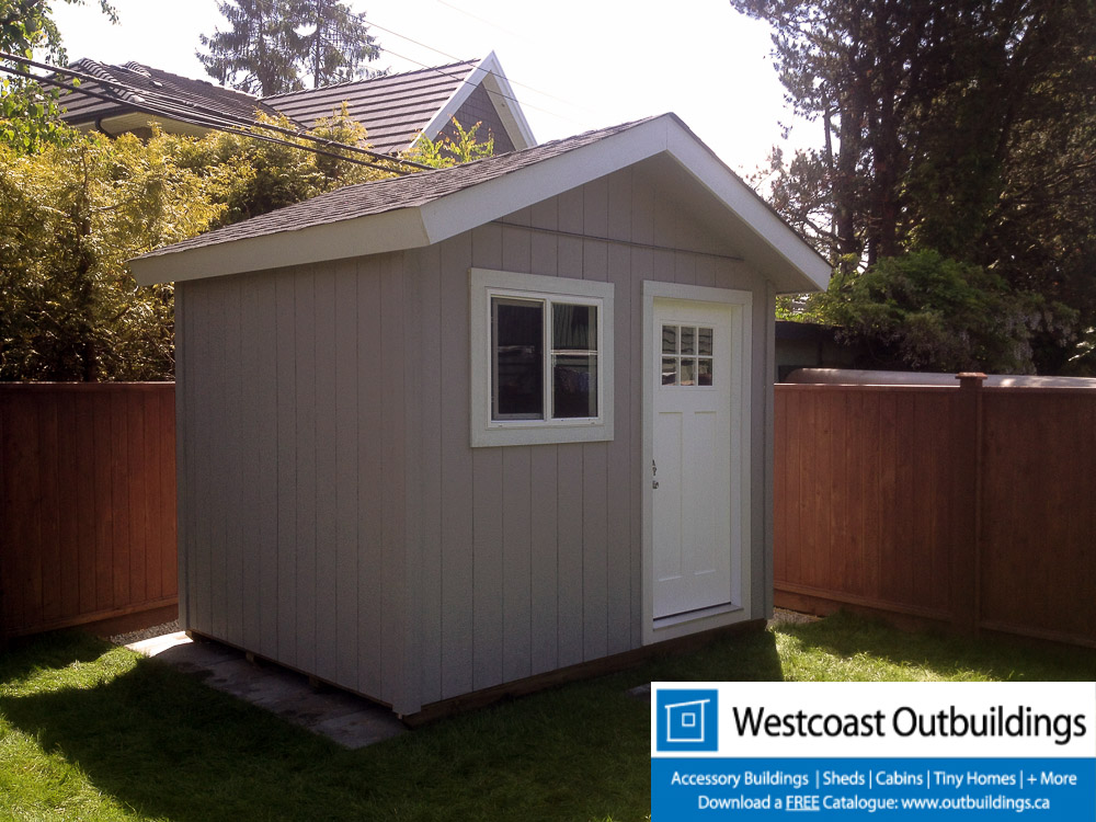 10 39 x 8 39 prefab craftsman garden shed westcoast outbuildings for Prefab garden buildings