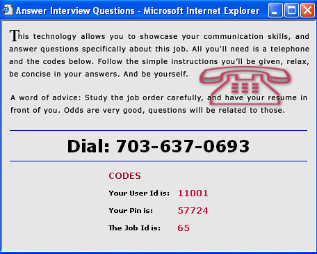 Answering Text to Voice Job Interview Questions  Online Employer