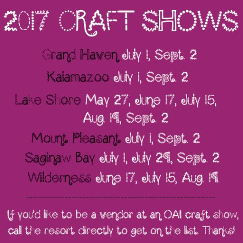 2017 craft shows rev