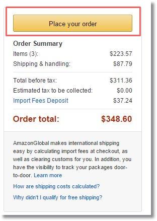 amazon.comアメリカ米国アマゾン購入_購入確定