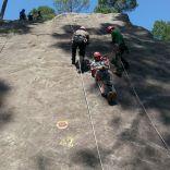 Stretcher rock face rescue