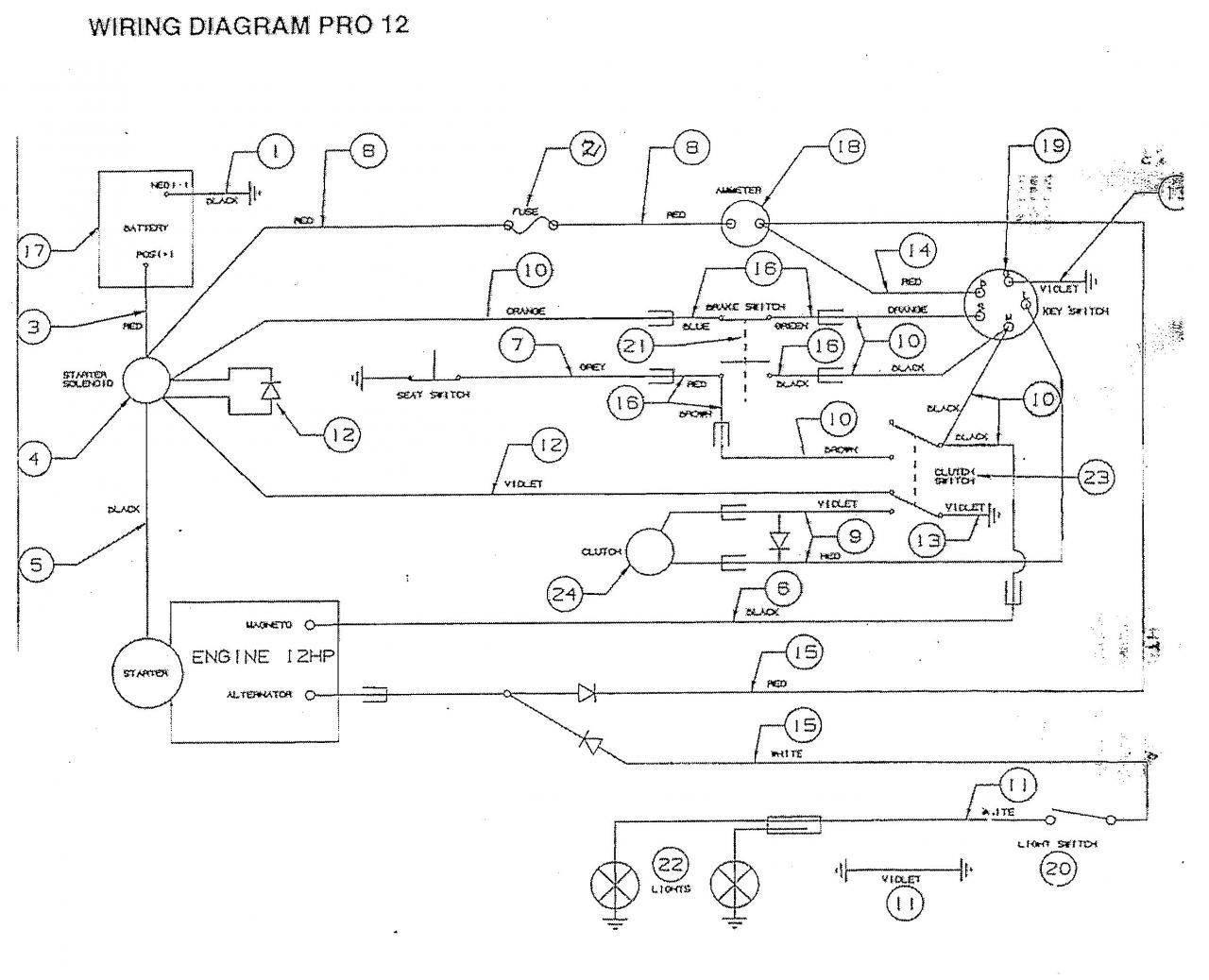rover mower wiring diagram