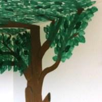 Baum-Traum in der eigenen Wohnung: Immergrüne Wanddeko selbst gemalt