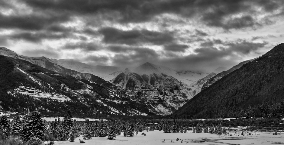 Landscape photos, like this shot a dawn in Telluride, Colorado, typically require a small aperture to maximize depth of field. This one was shot at f/16.