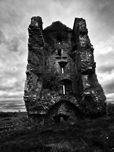 Cloondooan Castle: Example of Black and White Photography