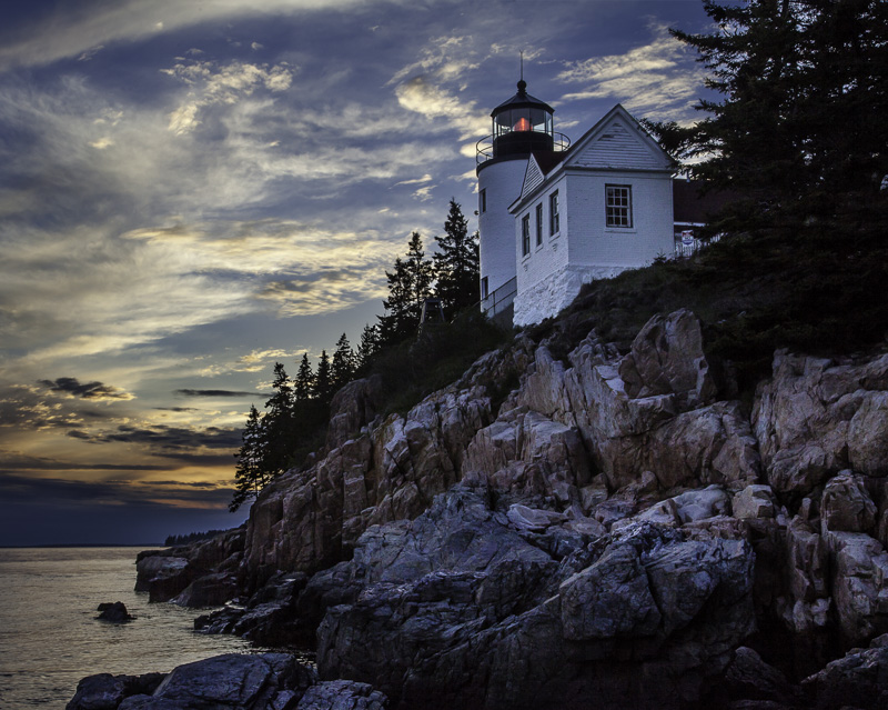 Obvious shot of Bass Harbor Head Light