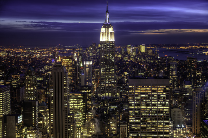Obvious shot of New York City from top of Rockefeller Center
