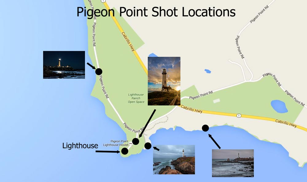 Pigeon Point shot locations