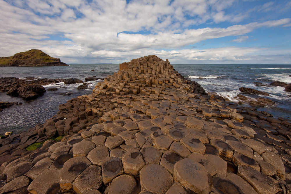 Hexagonal stones of Giant's Causeway