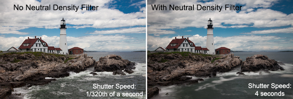 Long exposure example - with and wtihout a neutral density filter