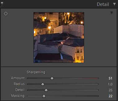 Lightroom's sharpening tools