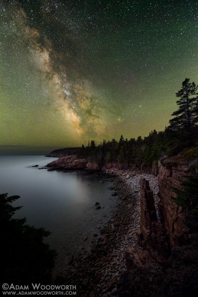 Starry Fall Night Wallpaper Behind The Shot Monument Cove By Adam Woodworth Acadia