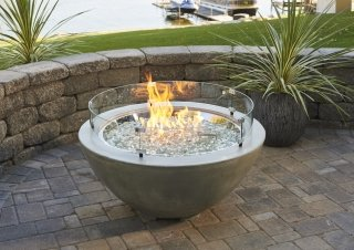 Cove 30quot Gas Fire Pit Bowl The Outdoor Greatroom Company