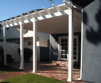 Vinyl Patio Covers, louvred patio covers Los Angeles CA.