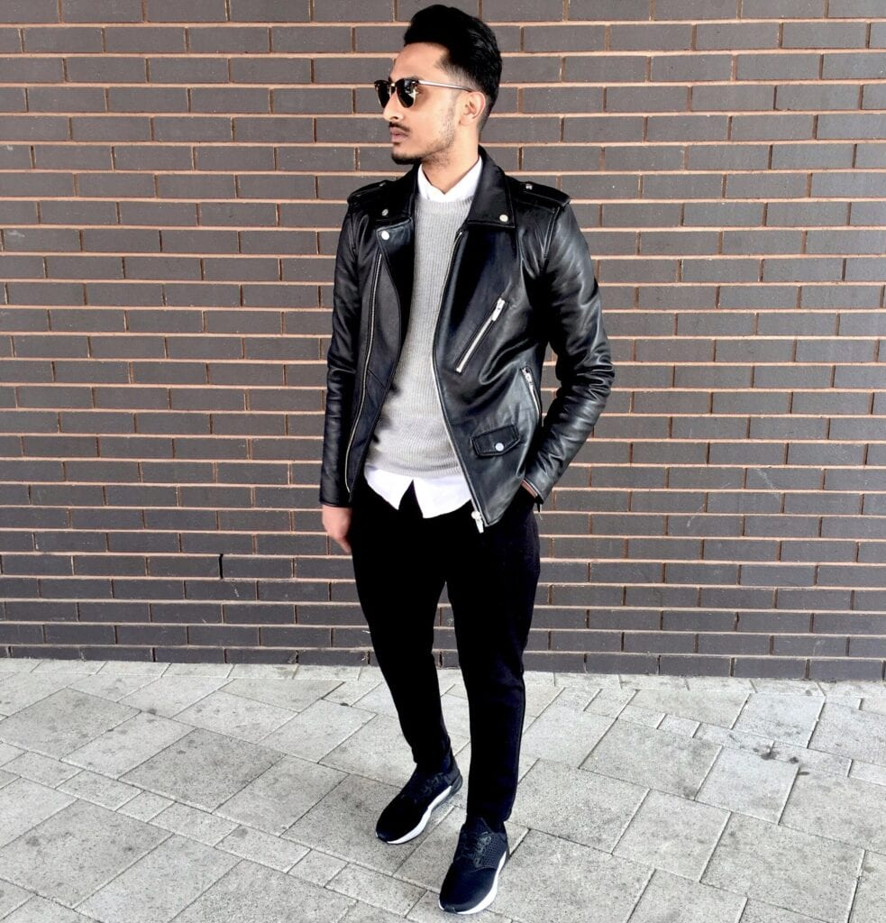 Ideas for men to wear leather jackets 2