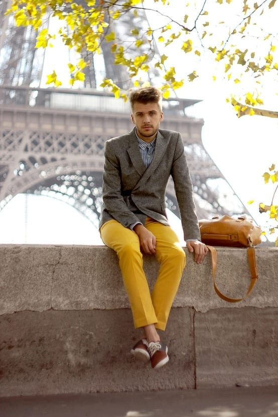 Men's Yellow Pants Outfits-35 Best Ways to Wear Yellow Pants recommend