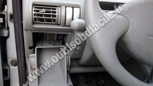 OBD2 connector location in Renault Twingo 1 phase 2 - Outils OBD Facile