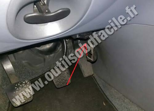 OBD2 connector location in Saab 9-3 (1998 - 2002) - Outils OBD Facile