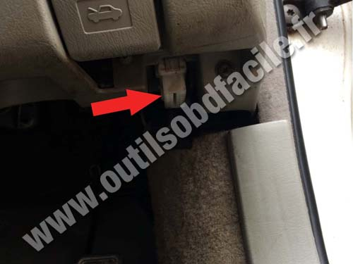OBD2 connector location in Toyota Mark II (RHD) (1996 - 2000