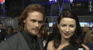 Sam Heughan and Caitriona Balfe, 2015 PCA red carpet