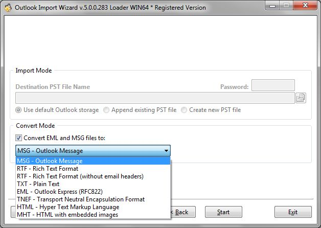 Convert EML to MSG with Outlook Import Wizard