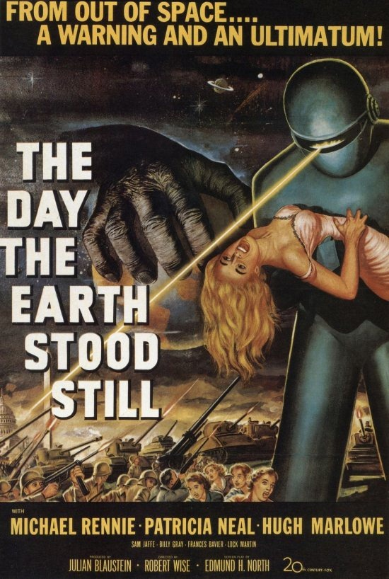 The Day the Earth Stood Still poster The Hidden Context in some Great Movies
