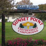 Sunset Point Campground Sign.  Thank You WeGoFar.com For The PIcture.