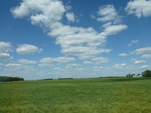 Driving Through Indiana.  Beautiful Farmland Everywhere.