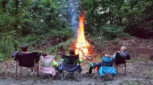 David, Brenda And The Furno's Enjoying The Bonfire One Last Night Before We Leave