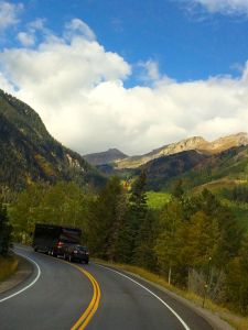 Going Through The San Juan Mountains In Colorado