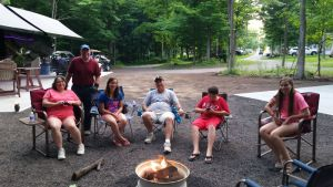 July 2015 - Our First Campfire With Our Friends