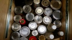 Labeled Canned Goods