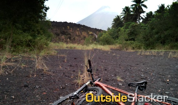 Biking to Mayon's Lava Wall