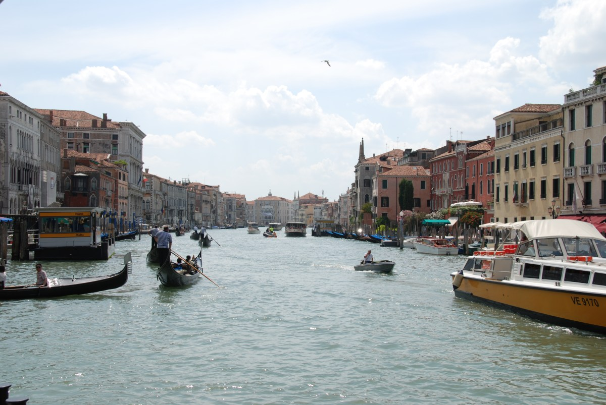 Riding Gondolas in Venice