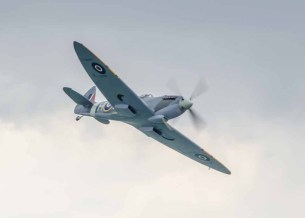 Spitfire at Lee on the Solent. 80th Anniversary flight.