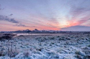Another frosty start to the day, this time at Titchfield Haven