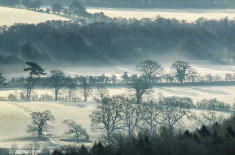 Frosty start to the day in the Meon Valley