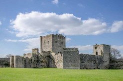Portchester Castle within the site of the Roman fort