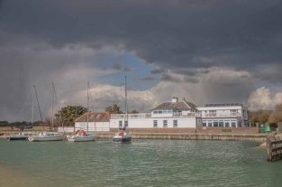 Titchfield Haven harbour and visitor centre. The weather in the last week of April 2016 was 'changeable'!!