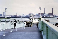 Old view of the Gosport Ferry pontoon circa 1980