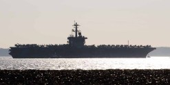 USS Theodore Roosevelt anchored in the Solent